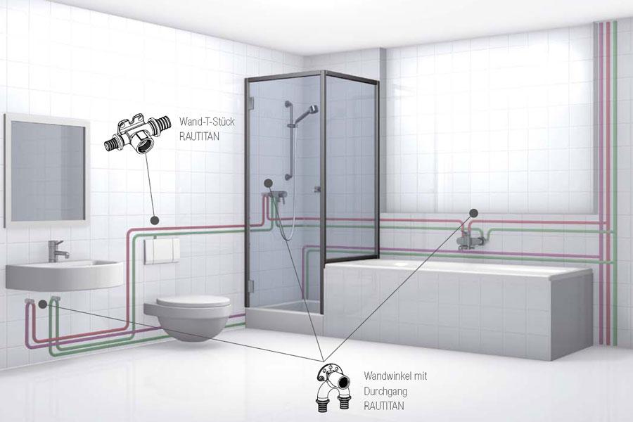 Схема коммуникаций в ванной