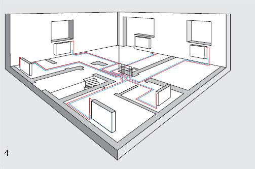 Однотрубная система проекта отопления.